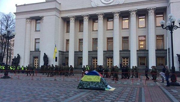Ситуация возле Верховной Рады утром 18 октября 2017