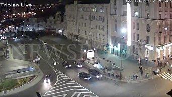 Смертельное ДТП в Харькове: момент столкновения