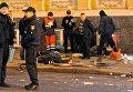 Работа криминалистов на месте страшного ДТП в Харькове.