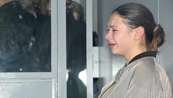 Подозреваемая Елена Зайцева в суде