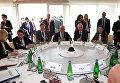 Делегаты перед рабочей сессией саммита министров внутренних дел G7 на острове Искья, Италия