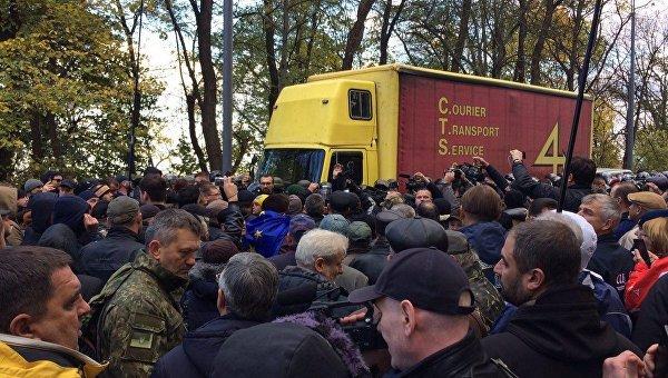 Вече Саакашвили. Ситуация под Верховной Радой, 22 октября 2017