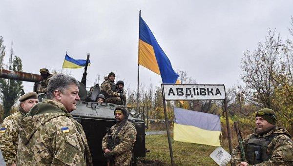 Петр Порошенко в Авдеевке, 22 октября 2017