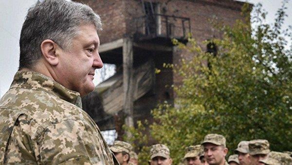 Президент Петр Порошенко в Авдеевке
