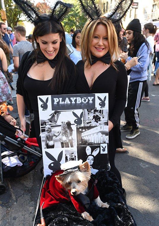 Собачий Хэллоуин-парад в Нью-Йорке