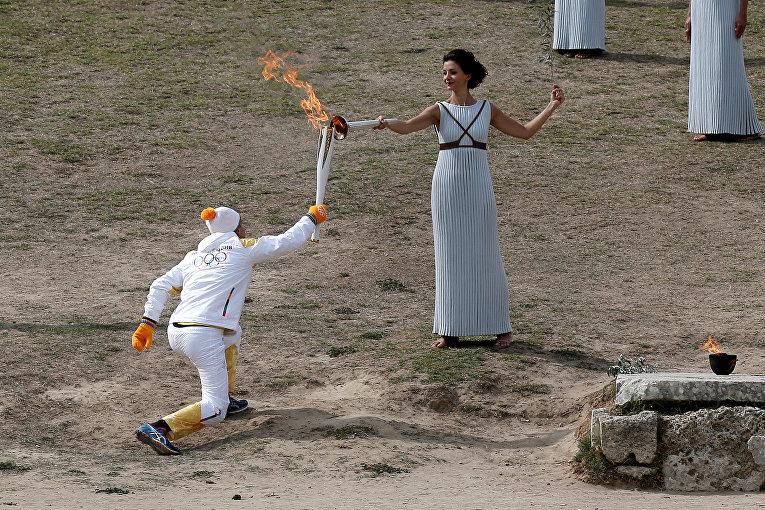 Репетиция церемонии открытия зимних Олимпийских игр, которые пройдут в южнокорейском городе Пхенчхан.