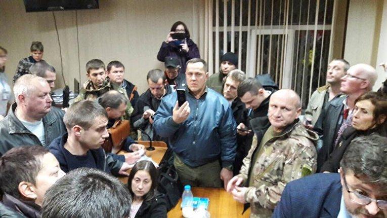 Блокирование заседания суда над Николаем Коханивским