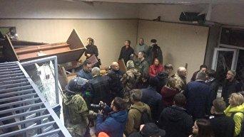 Погром в Святошинском райсуде Киева