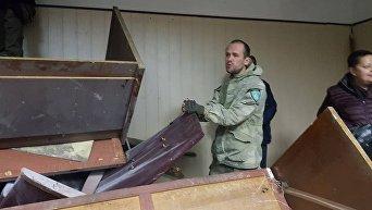 Ситуация в Святошинском райсуде Киева после заседания по избранию меры пресечения Николая Коханивскому