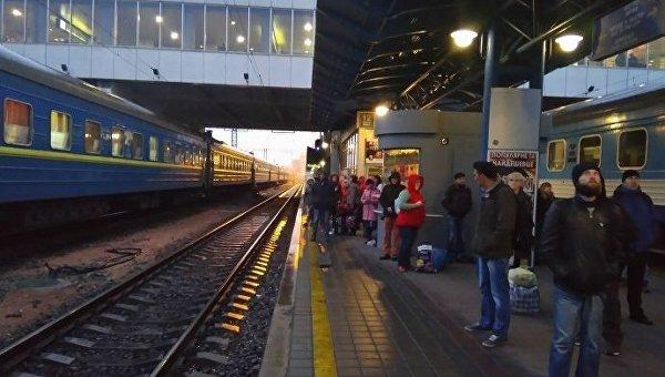 Вокзал Киева. Архивное фото