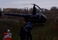 В Чернигове посреди микрорайона сел вертолет