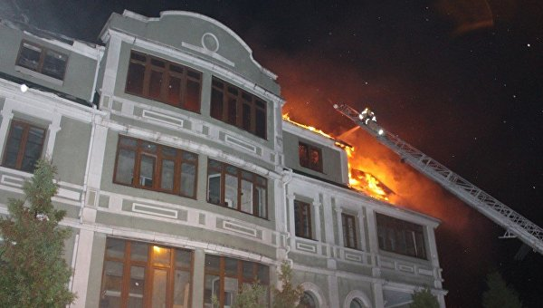 В Киеве горело общежитие для переселенцев из Донбасса
