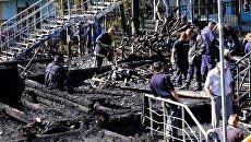 Пожар в одесском лагере Виктория
