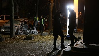 Следственные действия на месте взрыва покушения на нардепа Игоря Мосийчука