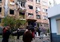 На месте мощного взрыва в Донецке