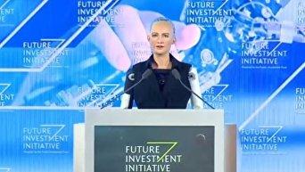 Человекоподобный робот по имени София получил гражданство. Видео