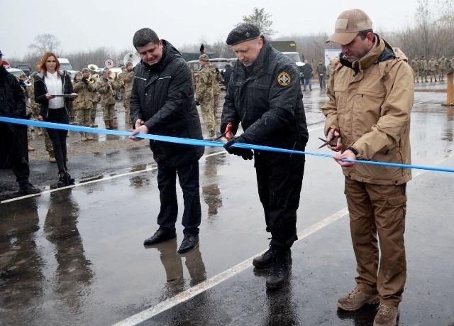 Восстановленный мост в Луганской области, 27 октября 2017