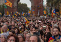 LIVE: Сторонники независимости Каталонии проводят акцию протеста