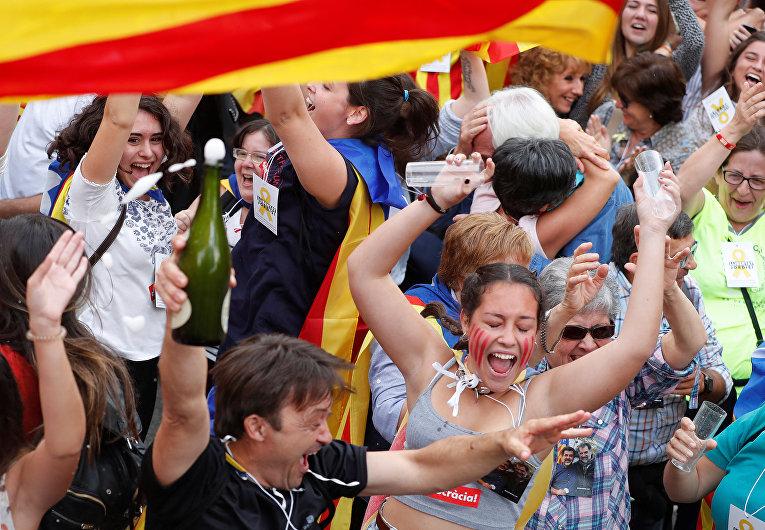 Каталония объявила онезависимости отИспании
