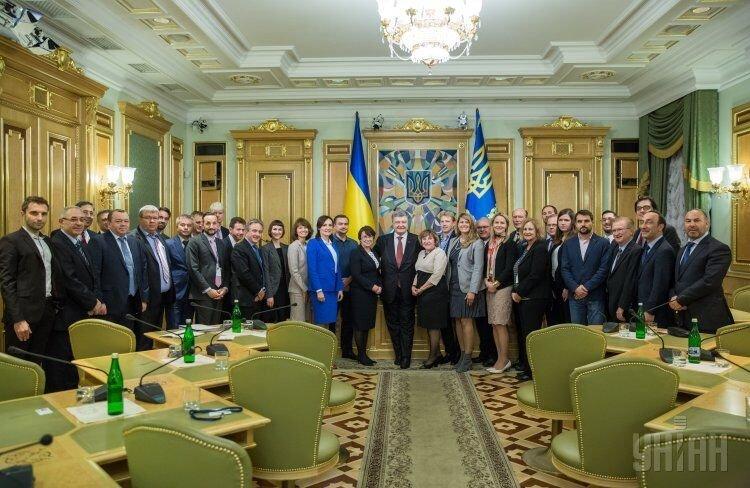 Президент Петр Порошенко во время встречи с инвесторами компании Horizon Capital и Western NIS Enterprise Fund