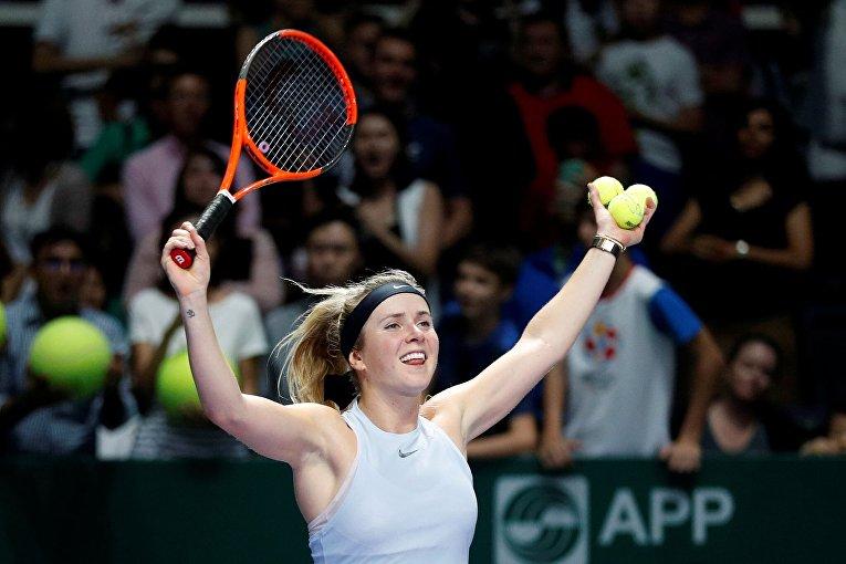 Украинская теннисистка Элина Свитолина прошла групповой этап турнира WTA в Сингапуре