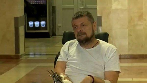 Игорь Мосийчук после взрыва в Соломенском районе Киева