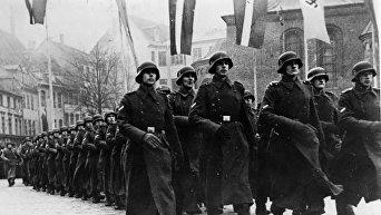 Парад латышских легионеров 18 ноября 1943 года