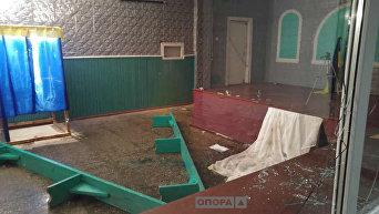 На месте нападения на избирательный участок в селе Майском Днепропетровской области