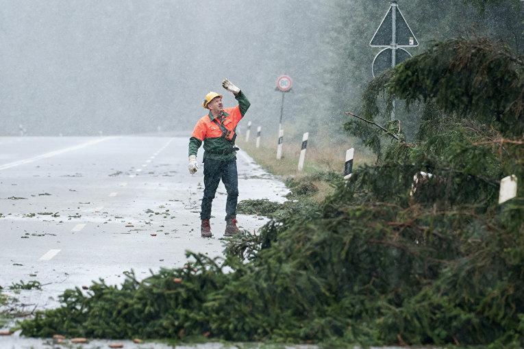 Ураган в Центральной Европе