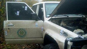 Автомобиль, в котором расстреляли Амину Окуеву