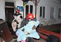 Спасение детей из горящего реабилитационного центра в Хмельницком