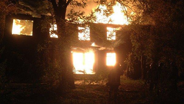 Пожар в одесском санатории Красные зори