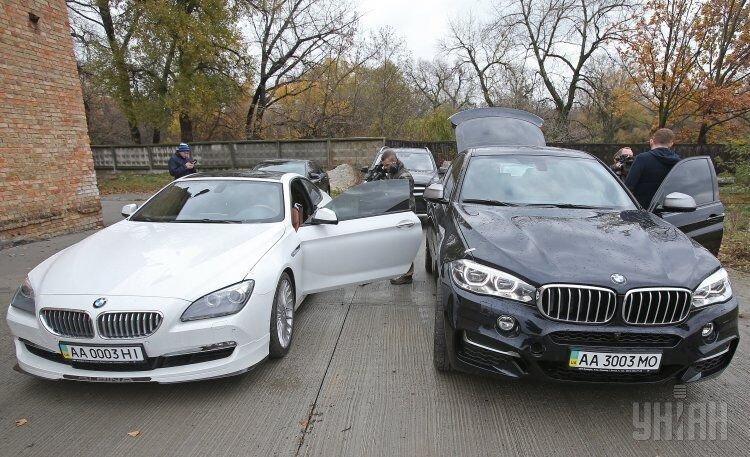 Аукцион автомобилей экс-министра Александра Клименко