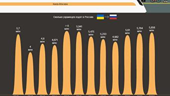 Поездки украинцев в Россию. Инфографика