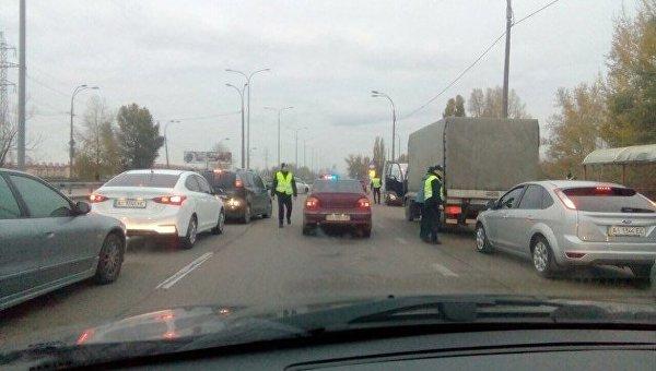 Ситуация при въезде в Киев
