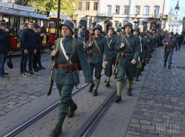 Во Львове прошел марш славы ЗУНР