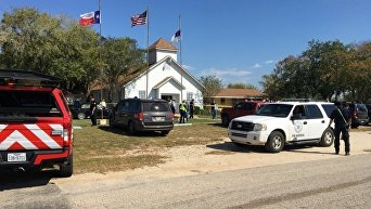На месте стрельбы в Техасе