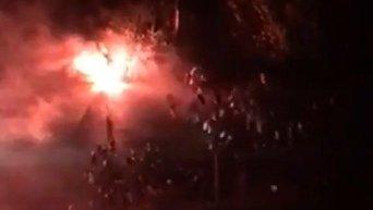 Массовая драка болельщиков в Киеве