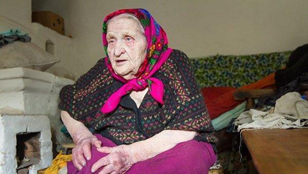 Украинская долгожительница Кристина Нагорная