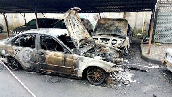 На месте пожара в Одессе