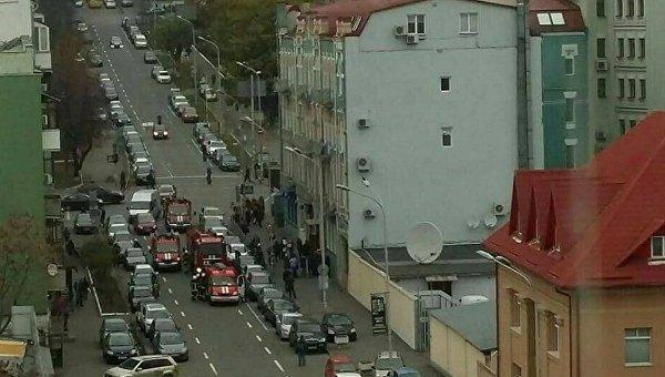 Пожар в Киеве на улице Владимирская