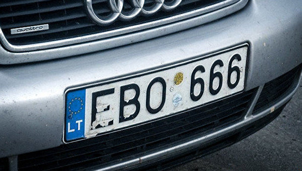 Еврономера с литовской регистрацией