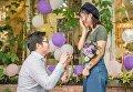 В Китае мужчина сделал своей девушке предложение при помощи 25 iPhone X
