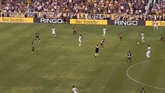 Аргентинский футболист забил фантастический гол с лёта с 30 метров. Видео