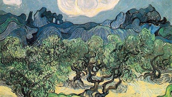 Картина Ван Гога Оливковые деревья