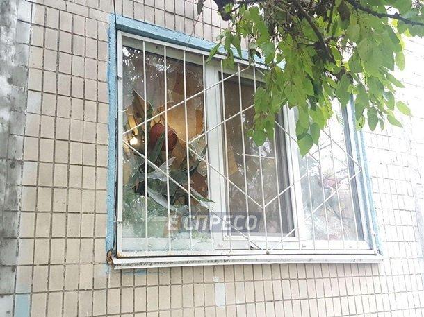 Взрыв гранаты в киевской пятиэтажке