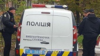 Полиция на месте взрыва гранаты в Киеве. Архивное фото