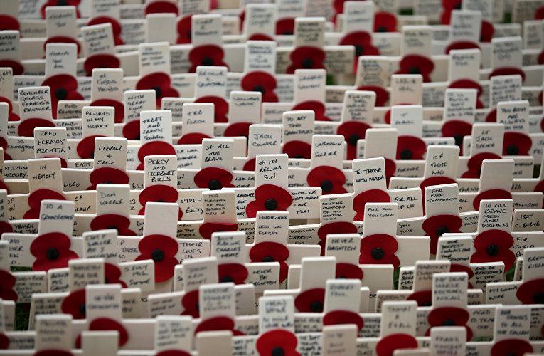 Поле памяти в Вестминстерском аббатстве в центре Лондона
