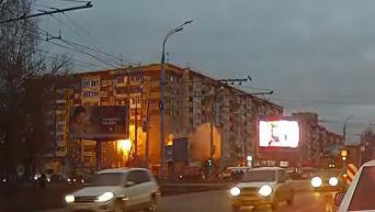 Момент взрыва в доме в Ижевске. Видео