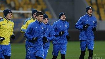 Открытая тренировка сборной Украины по футболу накануне матча против сборной Словакии